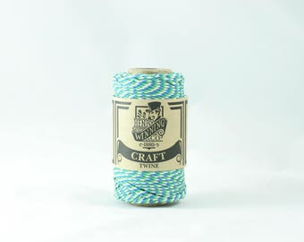 Blue Green & White No.5 Cotton Craft Twine/String 125g Approx 65m
