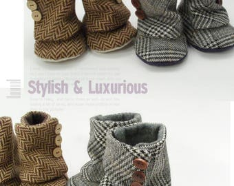93 Baby 3 Button Boots PDF Pattern
