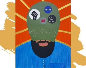 Woke (Black Lives Matter Black Power Black Men Art)