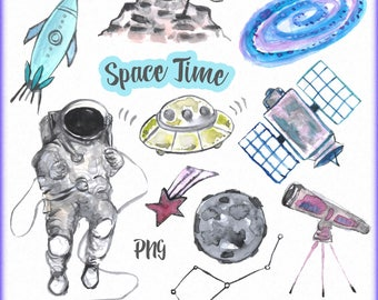 Space clipart, Watercolor space clipart, Outer space clip art, Space man clipart, Planets clipart, png space