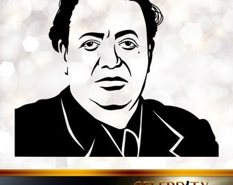 Diego Rivera Silhouette, artist silhouettes, celebrity silhouette, famous people