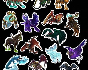 World of Warcraft mount stickers