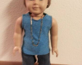 "18"" Doll Tank Top and Shorts"