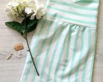 Mint 2T Dress, 2T Toddler Summer Dress, Mint Striped Dress, 2T Toddler Fall Dress, Mint Green and White Striped Dress, 12 months 2T Dress