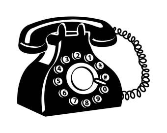 Telephone clip art | Etsy