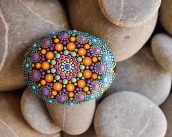 Hand Painted Mandala Sea Stone
