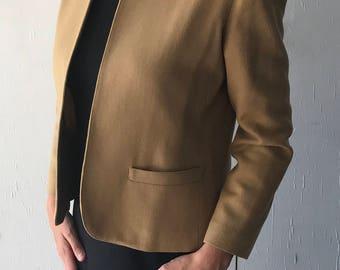 1970's Patty Woodard California Women's Blazer | Vintage Women's Blazer Jacket | Women's Tan Blazer
