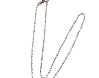 2 Rolo 20 Inch Silver Chain, Finished Necklace, Chain Necklace, Silver Chain, Choker, Wholesale, Adjustable Necklace, On sale
