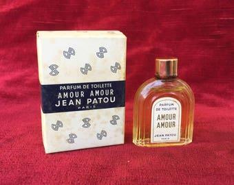ancien flacon parfum miniature Amour-Amour de Jean Patou - old bottle perfume advertising miniature Amour Amour