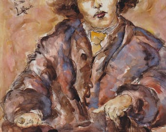 Giclee hand-signed limited edition on canvas: Oscar Wilde, 2000