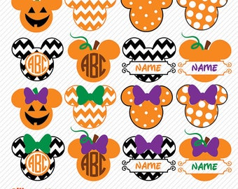 Mickey Halloween SVG, DXF, Mickey Pumpkin Clipart, Mickey Monogram Halloween svg, Mickey Halloween, Mickey Halloween png, Mickey Monogram