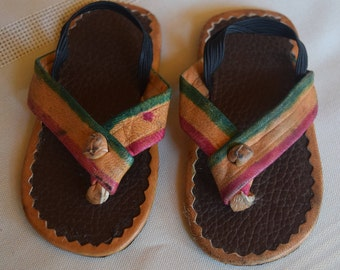 Hand made children's leather sandals