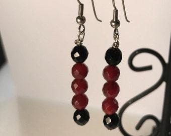 Beaded french wire earrings