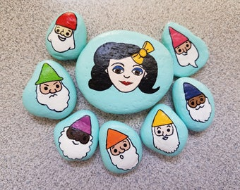Snow White and the Seven Dwarves Decorative Rocks (Set of 8)