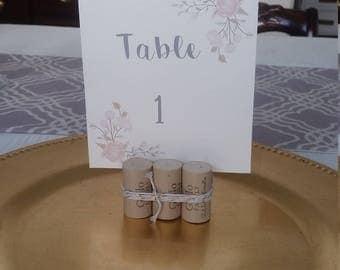 Wine Cork Table Number Holders (4 pack)