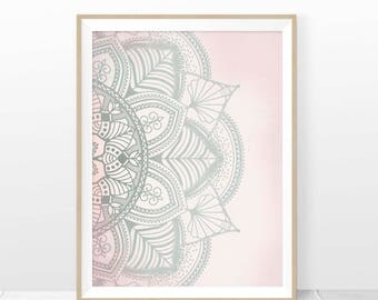 BOHO WALL ART, Boho Print, Boho Style Poster, Mandala Home Decor, Boho Chic, Mandala Wall Art Print, Indian Art Printable, Digital Download