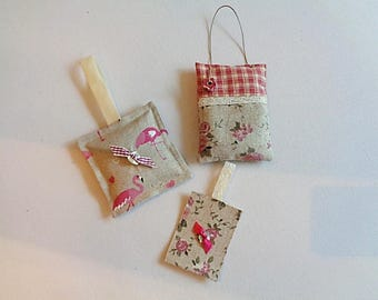 Set of two door cushions, lavender sachets