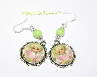Child sweety cabochon earrings