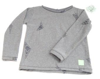 Mimor Phife Sweater  - torn gray