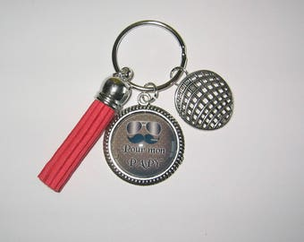 Cabochon 25mm bag charm keychain