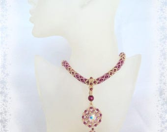 Beads - unique lace and Swarovski necklace