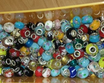 Wholesale lot of 180 beads pandora style