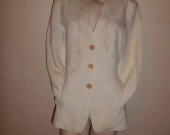 GEORGES RECH t 40 linen jacket