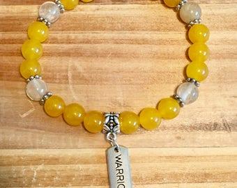 Yellow Agate • Golden Quartz • Warrior Bracelet • Endo Warrior