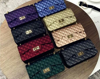 Quilted Flap Bag With Gold Hardware