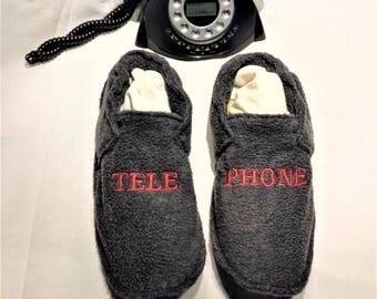 Slippers washable fleece snap phone!  T: 42/44