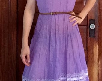 Vintage purple dress with lace