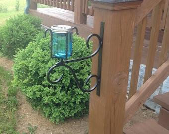 Hand Forged LED Solar Mason Jar Light