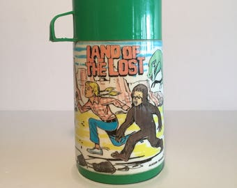 Land of the Lost Thermos Thermo Bottle Aladdin 1975 Television TV 1970s No Lunch Box
