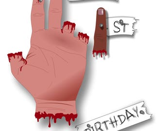 21st horror birthday card
