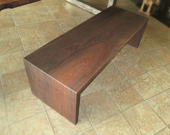 Salvaged Walnut Double Waterfall Bench