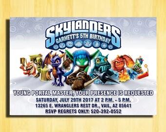 Skylanders Spyro Heroes, Skylanders Invitation, Skylanders Birthday, Skylanders Party, Skylanders