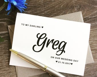to my husband on our wedding day, husband wedding card,card for husband,card for groom,wedding day card to my groom,husband gift,groom gift