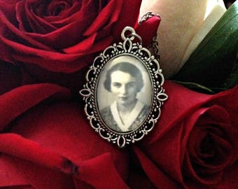 Personalized Ancestor Pendant Necklace, Family History Vintage Photograph Necklace, Genealogy Wedding Gift from SweetieSentimental