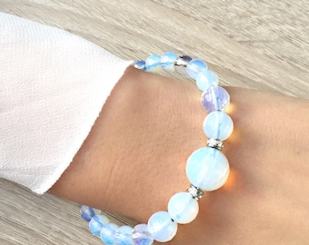 Opalite bracelet and Swarovski crystals
