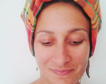Cotton madras turban headband
