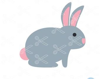 Bunny SVG, PNG, DXF, Eps Cutting Files, Rabbit Svg, Easter Svg, Easter Bunny Svg, Siilhouette Cut Files, Cricut Cut Files, Svg File