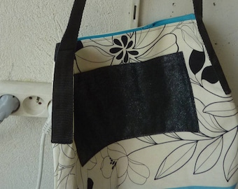 handbag shoulder off white and blue