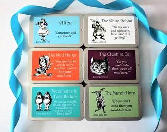 Alice In Wonderland - Inspired Tea Gift - Mini Slider Tins of Tea - Mad Hatter - Pocket Gift