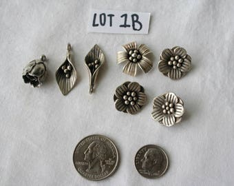 Assorted Silver Flowers