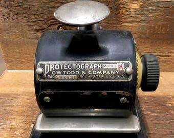 Antique Protectograph Machine Vintage