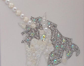 Unicorn - Button Art with a sparkle