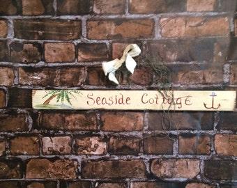 Seaside cottage sign