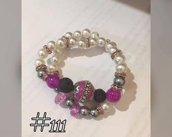 Lava Bead accented diffuser bracelets