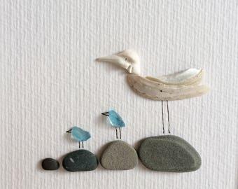 Gulls on stone