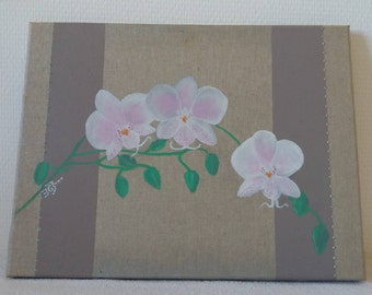 """painting """"Orchid"""" 28 x 32 cms"""